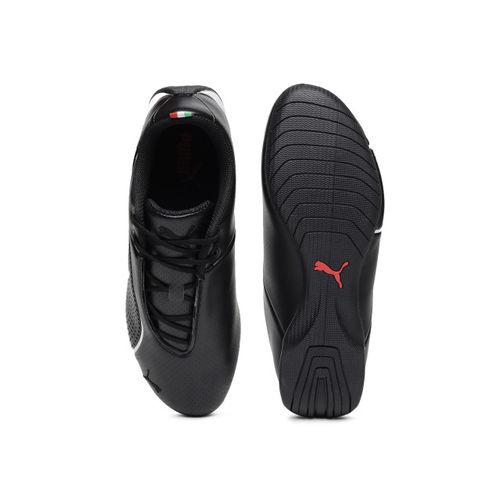 Puma Kids Black SF Future Cat Ultra Junior Leather Sneakers