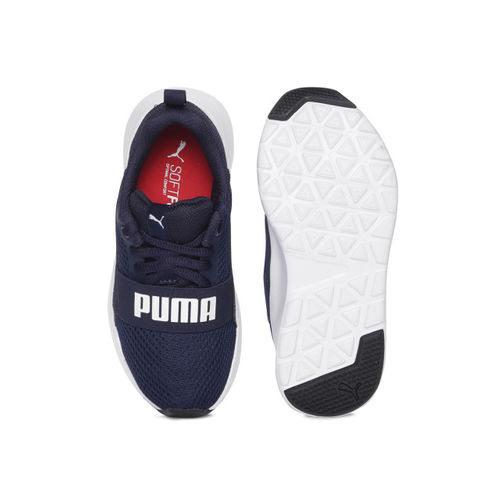 Puma Kids Navy Blue Wired PS Sneakers