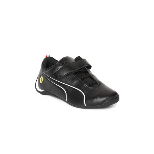 Puma Unisex Black Solid SF Future Cat Ultra V PS Leather Sneakers