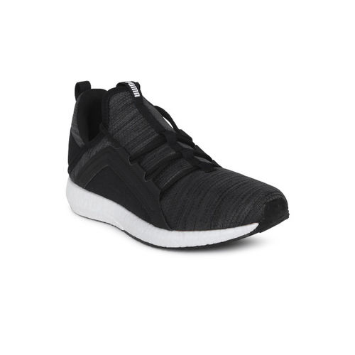 Puma Unisex Black Mega NRGY Heather Knit Jr Sneakers