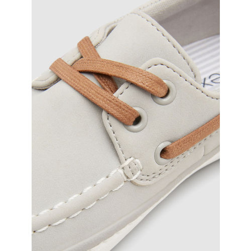 next Boys Grey Boat Shoes