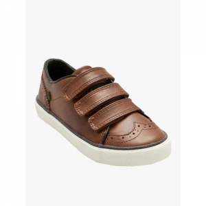 next Boys Brown Leather Slip-On Sneakers