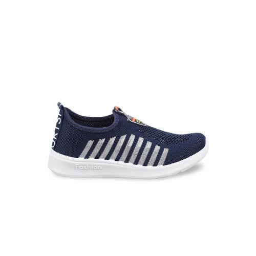 Kittens Boys Navy Blue Slip-On Sneakers