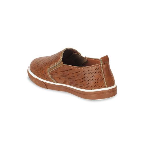 Kittens Boys Brown Slip-On Sneakers