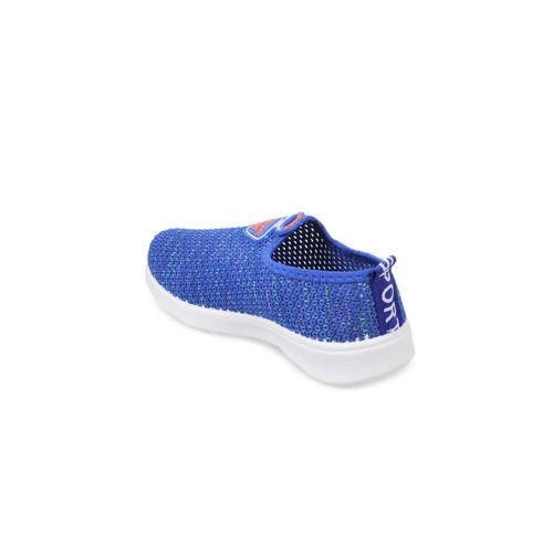 Kittens Boys Blue Woven Design Lightweight Slip-On Sneakers