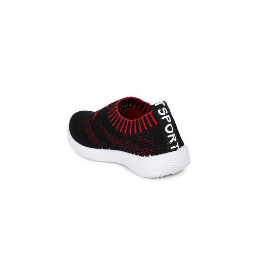 Kittens Boys Black Slip-On Sneakers