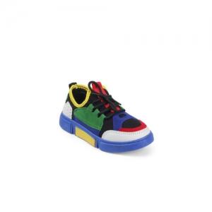 Kittens Boys Blue & Green Colourblocked Sneakers