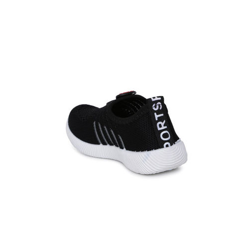 Kittens Boys Black Slip-On Sneakers