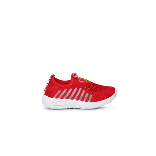 Kittens Boys Red Slip-On Sneakers