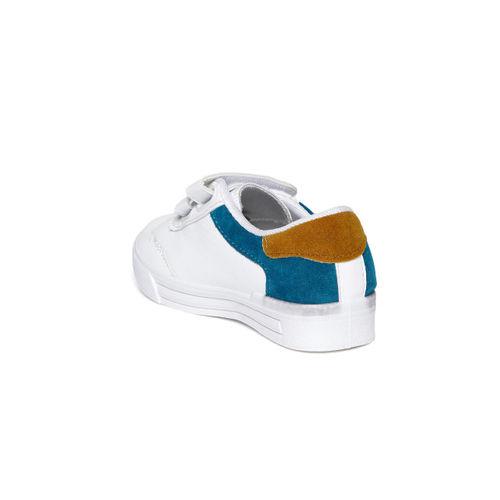Kittens Boys White & Blue Sneakers