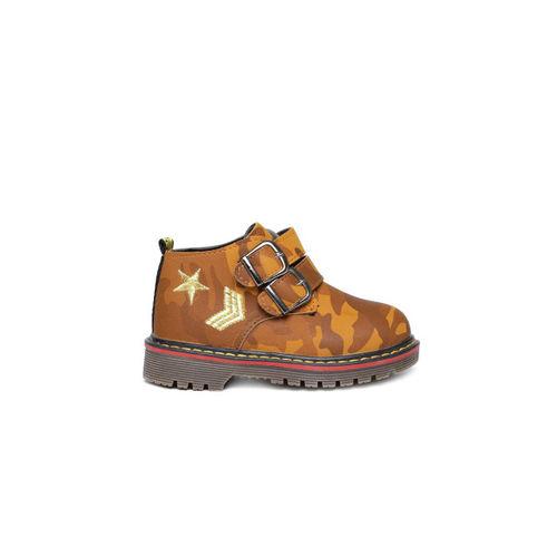 Kittens Boys Brown Flat Boots