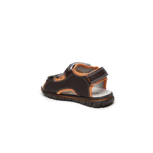 Kittens Boys Black & Orange Comfort Sandals