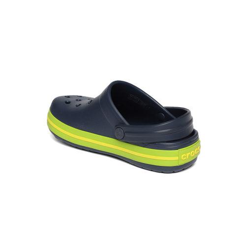 Crocs Kids Navy Blue Solid Clogs