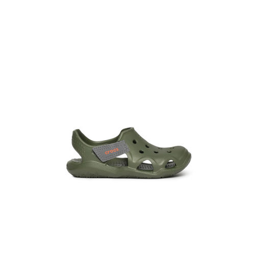 Crocs Unisex Olive Green Solid Clogs