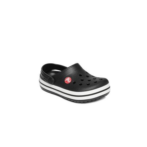 Crocs Kids Black Solid Clogs