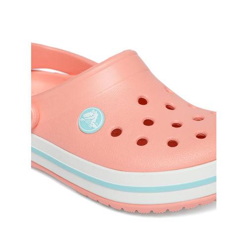 Crocs Kids Peach-Coloured Solid Clogs