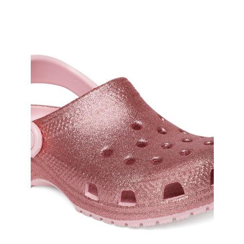Crocs Unisex Pink Classic Glitter Clog