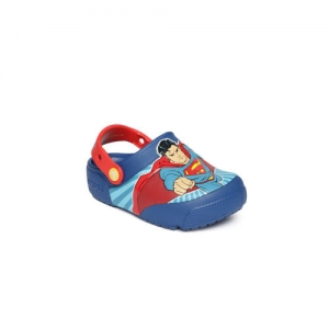 Crocs Boys Blue Printed Clogs