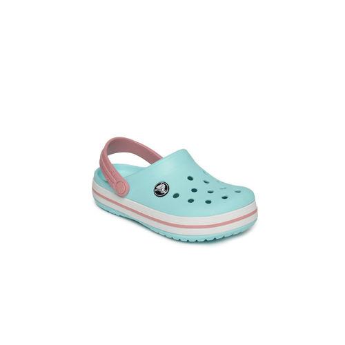Crocs Kids Blue Solid Clogs