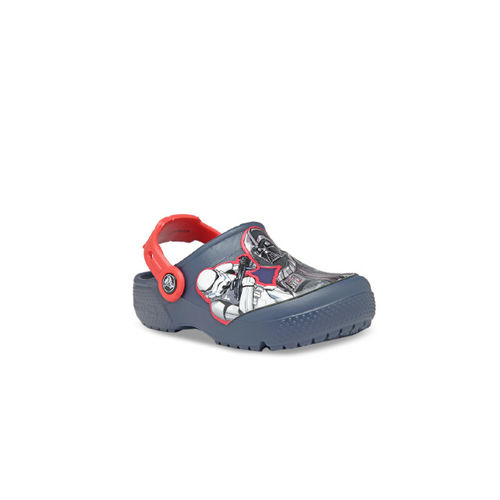 Crocs Boys Navy Blue Printed Clogs