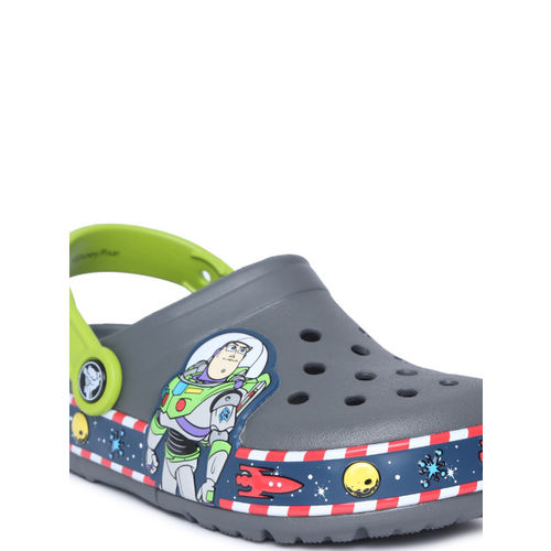 Crocs Unisex Grey Printed Clogs