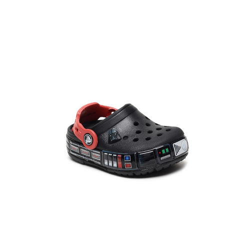 Crocs Boys Black Printed Clogs