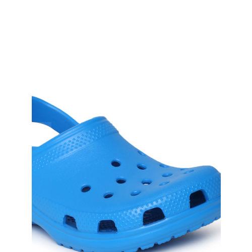 Crocs Unisex Blue Solid Classic Clogs