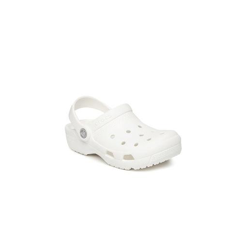 Crocs Unisex White Solid Coast Clogs