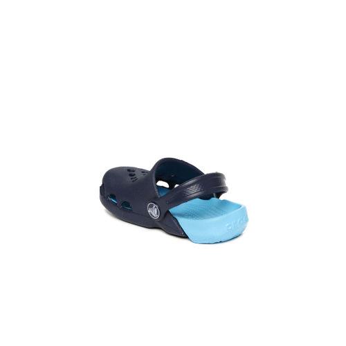 Crocs Kids Blue Colourblocked Electro Clogs
