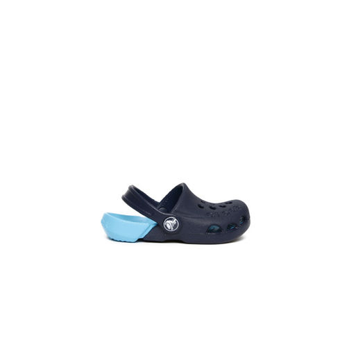 Crocs Kids Blue Colourblocked Electro Clogs