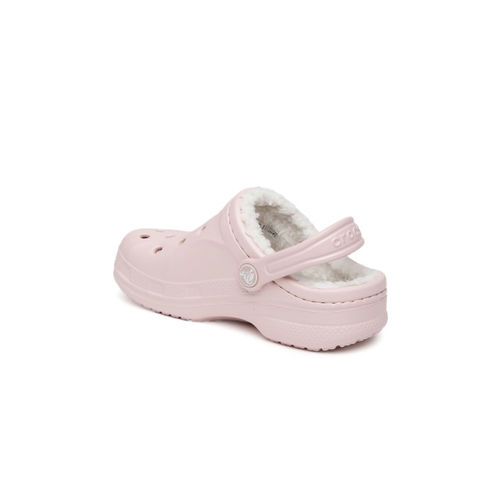 Crocs Kids Pink Ralen Lined Clogs