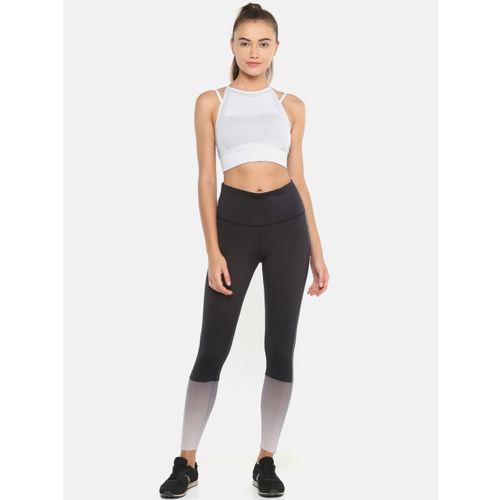 Reebok Women Black Ombre Colourblocked Yoga Tights