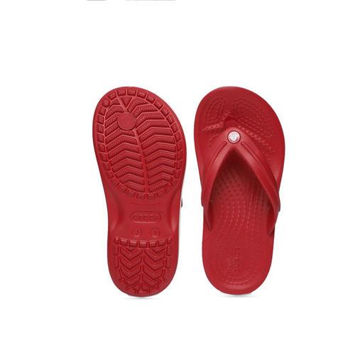 Crocs Kids Red Solid Crocband Thong Flip-Flops