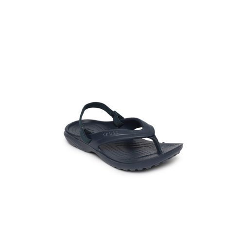 Crocs Kids Navy Blue Solid Thong Flip-Flops