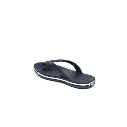 Crocs Kids Navy Blue Crocband Solid Thong Flip-Flops