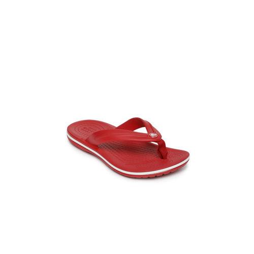 Crocs Unisex Red Solid Thong Flip-Flops