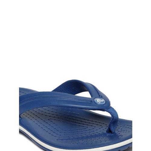Crocs Kids Blue Solid Crocband Thong Flip-Flops