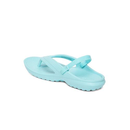 Crocs Kids Blue Solid Classic Thong Flip-Flops