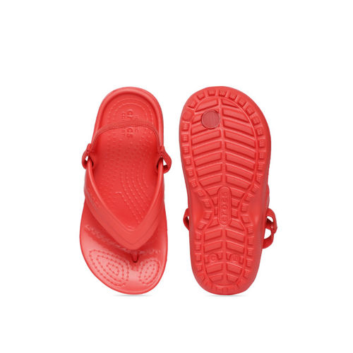 Crocs Kids Red Solid Thong Flip-Flops