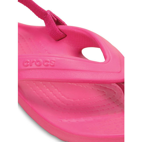 Crocs Boys Pink Solid Clogs