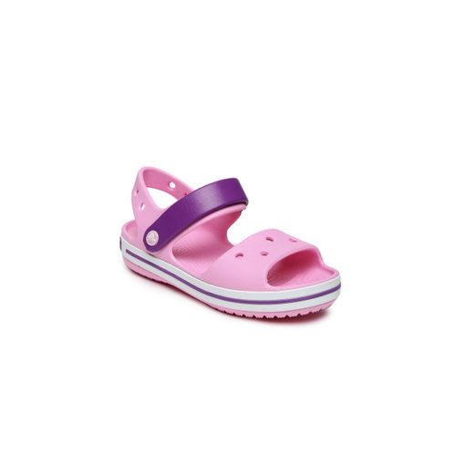 Crocs Unisex Pink & Purple Colourblocked Clogs