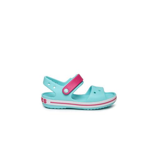 Crocs Unisex Blue & Pink Colourblocked Clogs