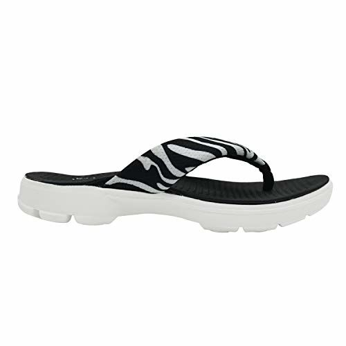 KazarMax XXIV Ladies's Zebra Print Black Memory Foam Slippers (Made in India)