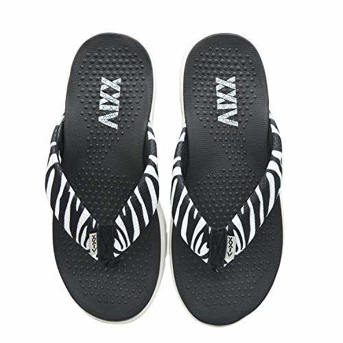 KazarMax XXIV Ladies's Zebra Print Black Memory Foam Slippers (Made in India)