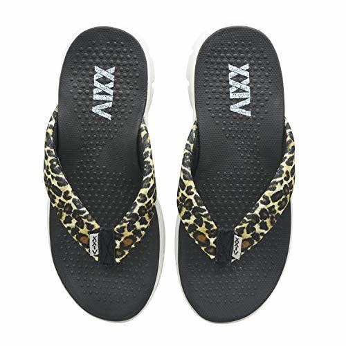 KazarMax XXIV Ladies's Leopard Print Black Memory Foam Slippers (Made in India)