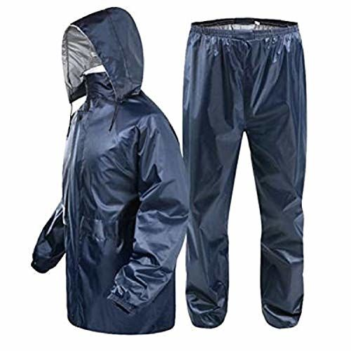 Zacharias Men's Reversible Double Layer Raincoat Rainsuit Free Size