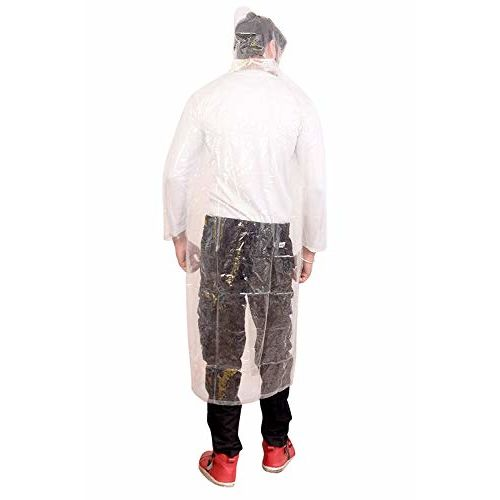 Malvina Prime Men's Transparent PVC Raincoat Overcoat (Transparent)