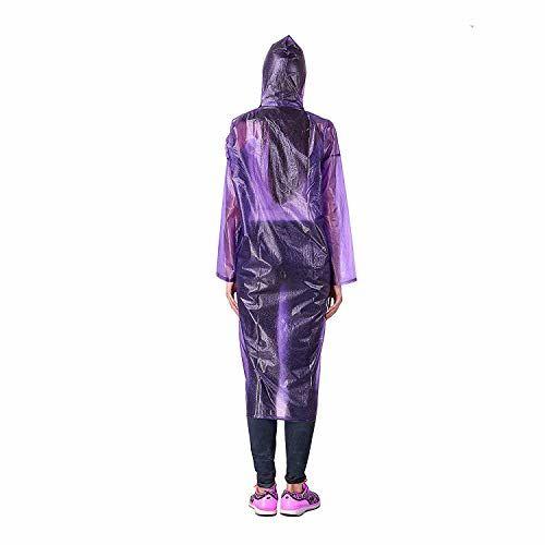 Malvina Girl's Rain Coat Rain Poncho with with Hoods and Sleeves, One-Piece Raincoat 100% Waterproof Portable Travel Raincoat