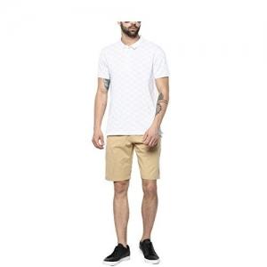 Urbano Fashion Men's Solid Beige Cotton Chino Shorts