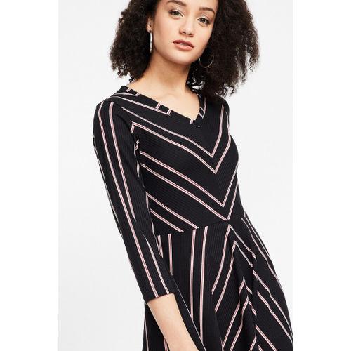 AND Chevron Print V-neck A-line Dress